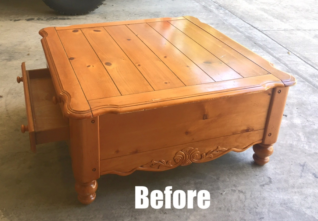 before coffee table